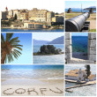 Photo collage of Corfu island, Greece — Foto Stock