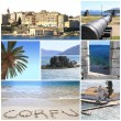 Photo collage of Corfu island, Greece — ストック写真