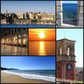 Photo collage of Corfu island, Greece — Stock Photo