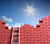 Freedom concept. Ladder leading to a better place — Stock Photo