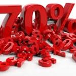 3D Rendering of a seventy percent symbol — Stock Photo #24728351
