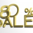 3d letters forming eighty percent symbol and the word sale — Stock Photo #26712111