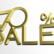 3d letters forming seventy percent symbol and the word sale — Stock Photo #26712113
