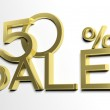 3d letters forming fifty percent symbol and the word sale — Stock Photo #26712157