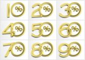 Group of numbers with percent symbol — Stock Photo