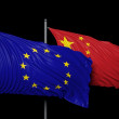 Relationship between Europe and China — Stok fotoğraf