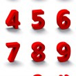 Set of 3d red numbers — Stock Photo