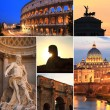 Photo collage of Rome at dusk, Italy — Stock Photo #28806423