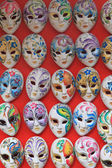 Group of Venetian carnival masks — Stock Photo