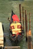 Traditional gondola in Venice, Italy — Stock Photo