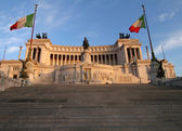 Vittorio Emanuele Monument in Rome, Italy — Stock Photo