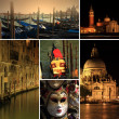 Photo collage of Venice at night — Stock Photo #29059719