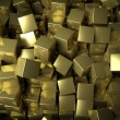 Stock Photo: Abstract golden cubes background