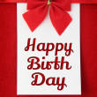 Happy birthday greeting card — Stock Photo