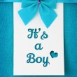 Its a Boy, baby arrival announcement — Stock Photo #30112283