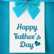 Stock Photo: Happy fathers day card