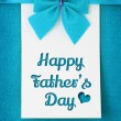 Happy fathers day card — Stock Photo