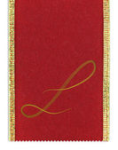Textil monograma letra l en una cinta — Foto de Stock