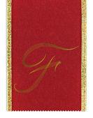 Textilní monogram písmeno f na pásu karet — Stock fotografie