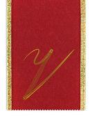 Tessile monogramma lettera v su un nastro — Foto Stock
