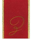 Tessile monogramma lettera z su un nastro — Foto Stock