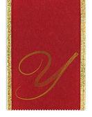 上一条丝带纺织/路易威登字母 y — 图库照片