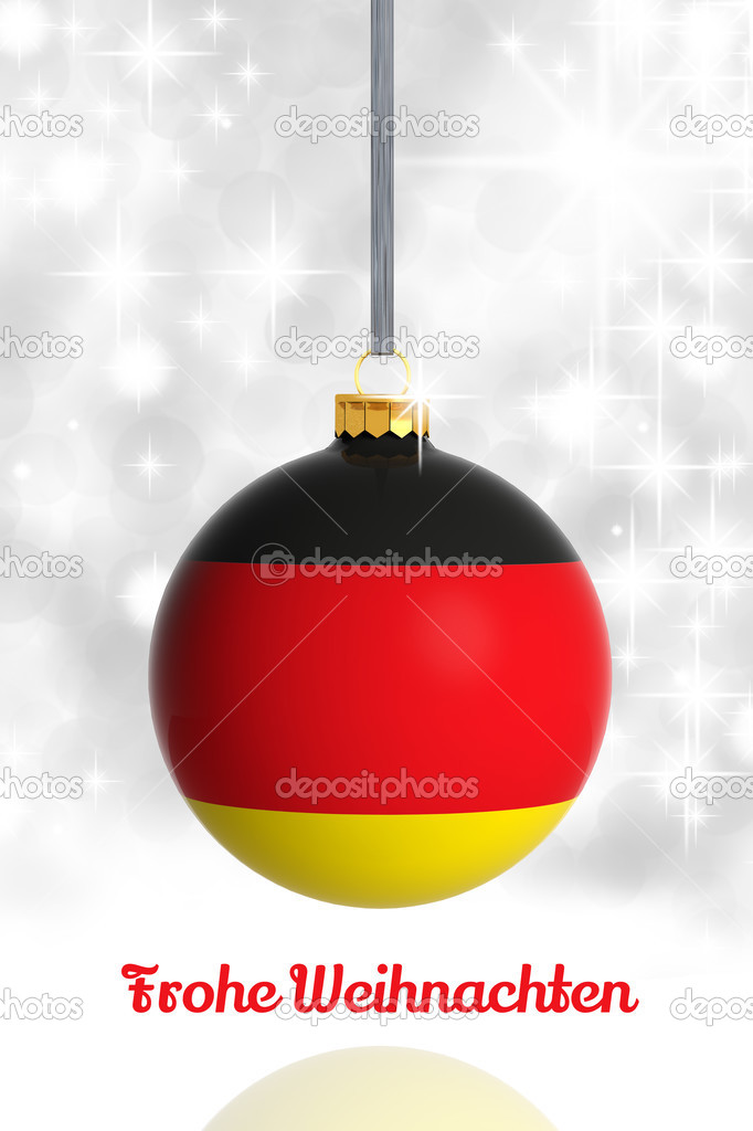 Christmas Baubles Germany : Merry christmas from germany ball with flag