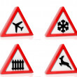Collection of traffic signs isolated on white background — Stock Photo