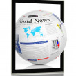 Digital news concept with tablet — Stock Photo