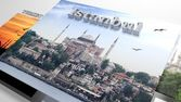 Turkey sightseeing in slideshow like set photos and 3d text — Stock Photo