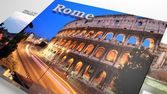 Italy sightseeing in slideshow like set photos and 3d text — Stock Photo