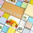 "Foto de Stock  : ""Healthy foods"" promotional business template"