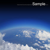 Curvature of the Earth,aerial shot — Stock Photo