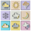 Stock Photo: Weather forecast 3d set