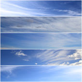 Set of horizontal sky banners — Stock Photo