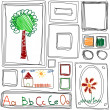 Seamless pattern. Repeating texture with Children's drawing frames — Stock Photo