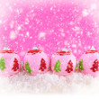 Pink beauty Christmas background — Foto de Stock