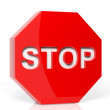 Stop sign 3D render — Stock Photo