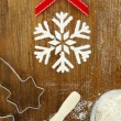 Stock Photo: Creative winter time baking background