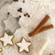 Winter time baking creative background — Stock Photo