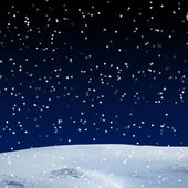 Fresh snow cover, at night. Winter background — Stock Photo