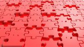3D blank red puzzle background — Stock Photo