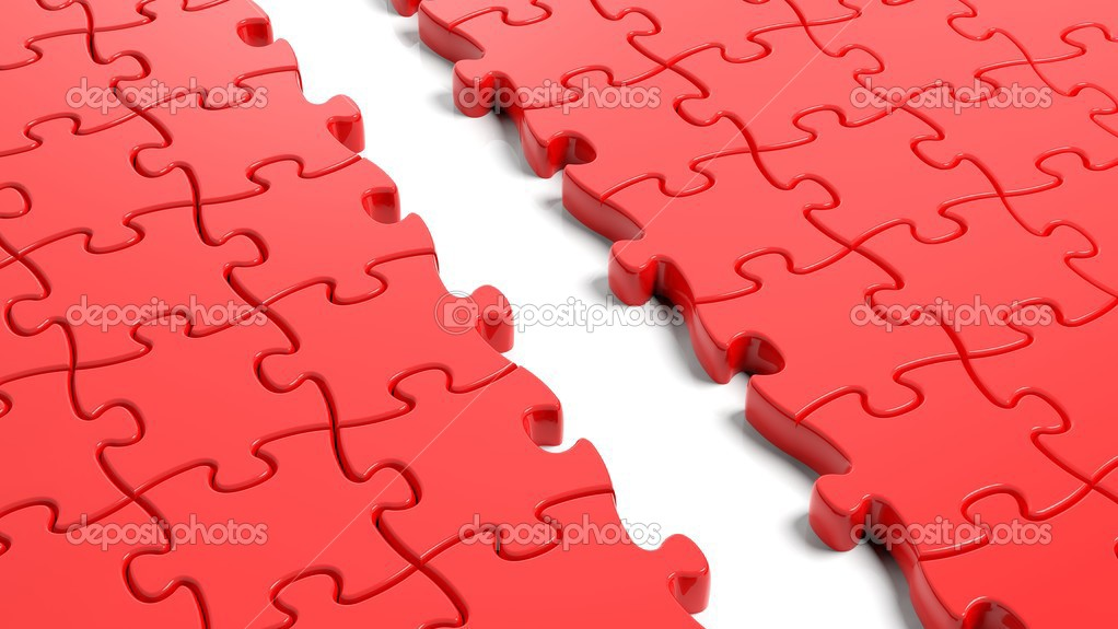 Jigsaw Puzzle Template Jigsaw Puzzle Red Blank