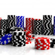 Stock Photo: Fine casino gaming checks isolated on white background