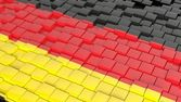 3D abstract background with flag of Germany — Foto de Stock