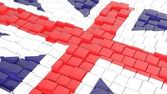 3D abstract background with flag of United Kingdom — Foto de Stock
