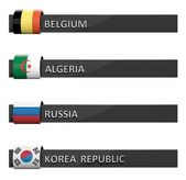 Group of empty score charts Belgium,Algeria,Russia,Korea Republic  — Stok fotoğraf