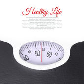 Close up of bathroom scale on white background — Stock Photo