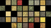Large collection of herbs and spices — Stock Photo