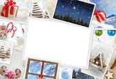 Collection of Christmas photos with copy space — Stock Photo